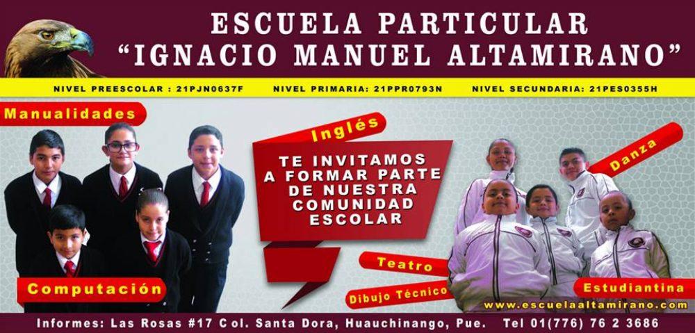 "Escuela Particular ""Ignacio Manuel Altamirano"""